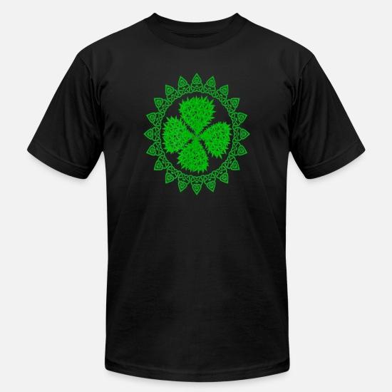 6087aa8b0 St Patrick's Day Apparel T-Shirts - Celtic Marijuana Weed Clover Leaf St -  Men's