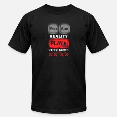 Play Video Games EscApe Reality Play Video Games - Men's Jersey T-Shirt
