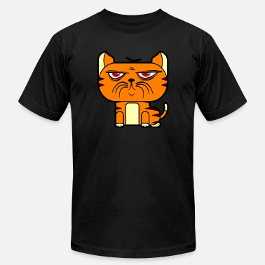 Pussy Paw Grumpy Pussy Cat - Men's Fine Jersey T-Shirt