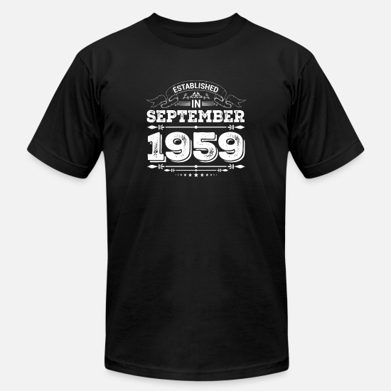 1959 T-Shirts - Established in September 1959 - Men's Jersey T-Shirt black