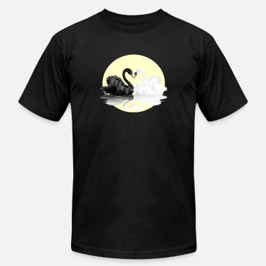 Black And White Swan black and white - Men's  Jersey T-Shirt