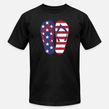Stars And Stripes American Flip Flop - Men's Fine Jersey T-Shirt