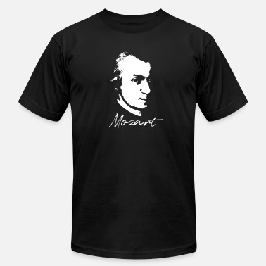 Classical Composer Mozart Portrait Classical Music Composer - Men's  Jersey T-Shirt