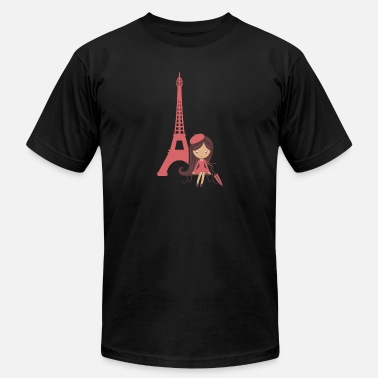Eiffel Tower French Girl & Eiffel Tower Proud France French - Men's  Jersey T-Shirt