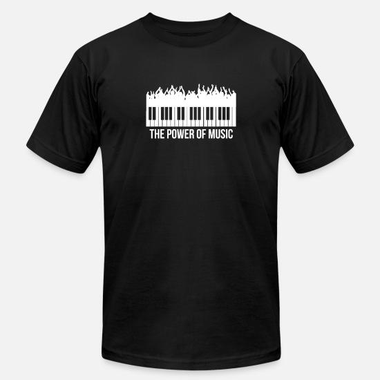 Music T-Shirts - Power of Music - Men's Jersey T-Shirt black