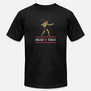 Muay Thai Christmas Muay Thai - Men's Fine Jersey T-Shirt