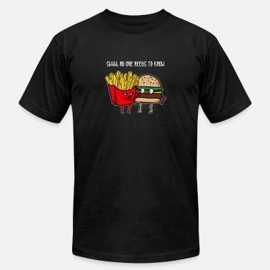Burgers Fries Burger and fries gift - Men's  Jersey T-Shirt