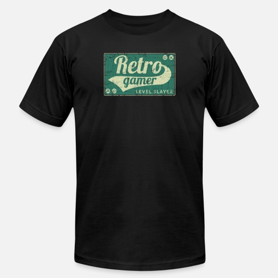 Gift Idea T-Shirts - Retro Gamer - Men's Jersey T-Shirt black