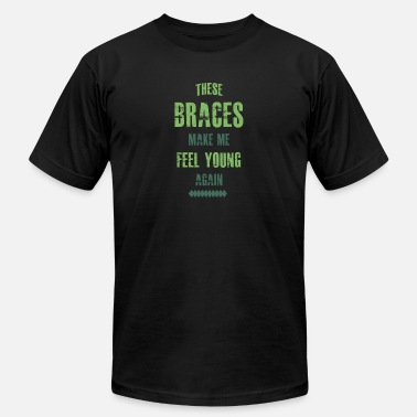 Braces Funny Braces - Men's  Jersey T-Shirt
