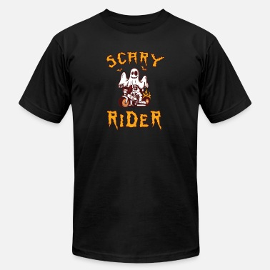 Ghost Motorcycles Funny Ghost Motorcycle Scary Rider - Men's  Jersey T-Shirt