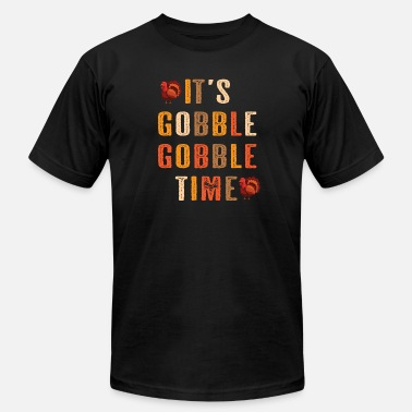 Kids Thanksgiving thanksgiving it s Gobble Gobble Time - Men's Fine Jersey T-Shirt