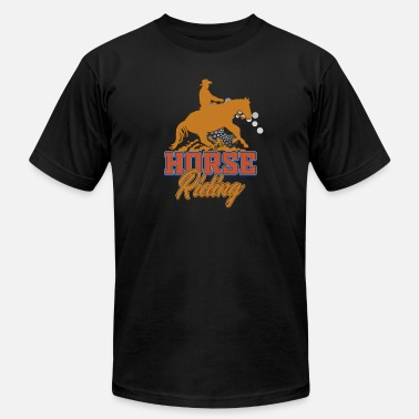 Ranch Horse Riding Horses - Ranch Farm Owner- Horseback Rider - Men's  Jersey T-Shirt