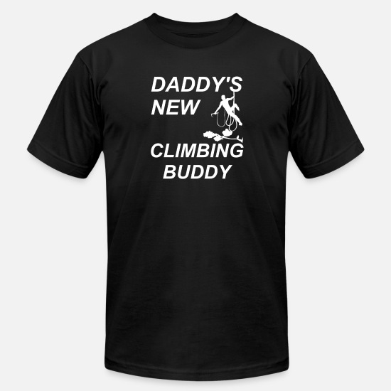 Gift Idea T-Shirts - Daddys new climbing buddy - Climbing, bouldering - Men's Jersey T-Shirt black