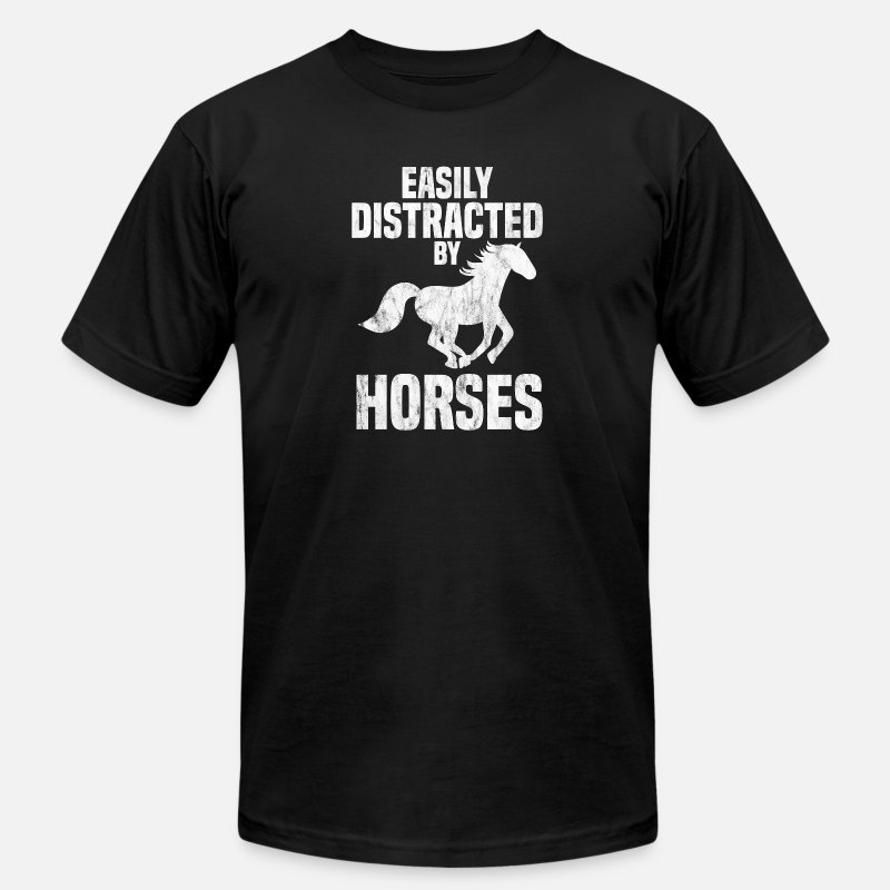 Love T-Shirts - Easily Distracted By Horses Horse Lover Equestrian - Men's Jersey T-Shirt black