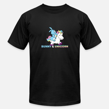 Floppy Ears Bunny and unicorn friends BFF gift - Men's Jersey T-Shirt