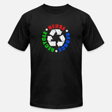 Recycle forests nature trees no to plastics recycle reduce - Unisex Jersey T-Shirt