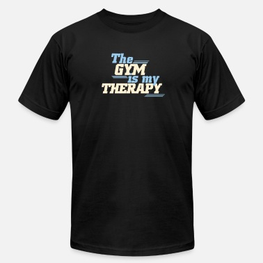 Phrase The Gym is my therapy - Unisex Jersey T-Shirt