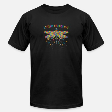 Autism Awareness Day Colorful Dragonfly For Autism Awareness Day - Unisex Jersey T-Shirt