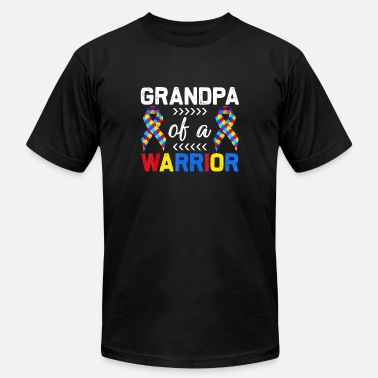 Grandpa Of A Warrior Autism Awareness Matching - Unisex Jersey T-Shirt