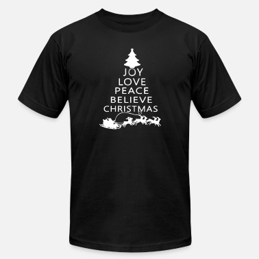 Peace Love Cruise joy love peace believe christmas - Unisex Jersey T-Shirt