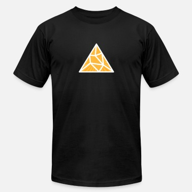 Triangle White Yellow Splitted Triangle - Unisex Jersey T-Shirt