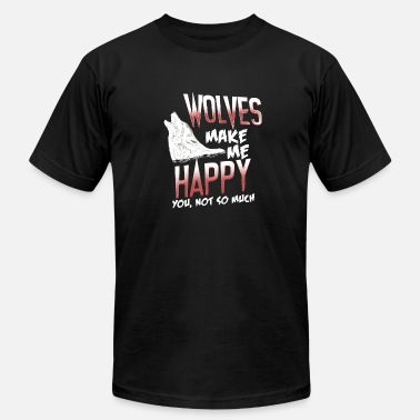 Gray Wolf Happy Wolf Happy Life Gift - Unisex Jersey T-Shirt