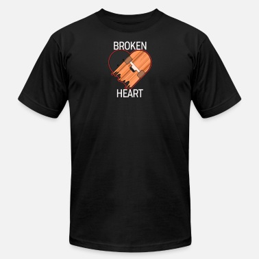 Broken Skateboard BROKEN HEART - Skateboard - D3 Designs - Men's  Jersey T-Shirt