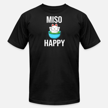 Miso Miso Happy Funny Cat in Soup Design - Men's  Jersey T-Shirt