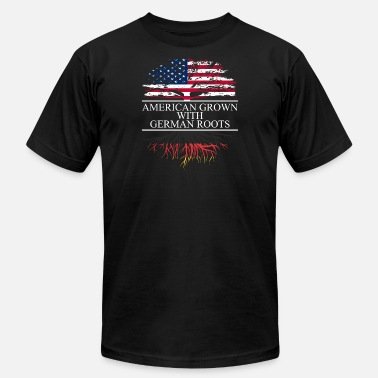 German Roots American grown with german roots - Men's Jersey T-Shirt