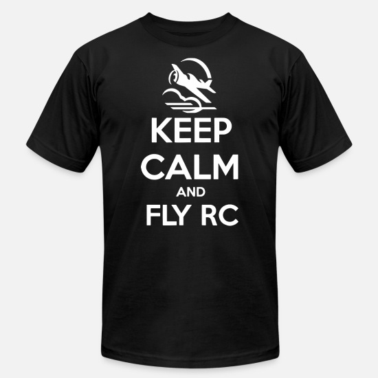 Airplane T-Shirts - Keep calm and Fly RC 1 - Men's Jersey T-Shirt black