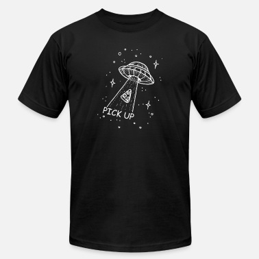 Pick Up pick up Pizza Ufo - Men's  Jersey T-Shirt