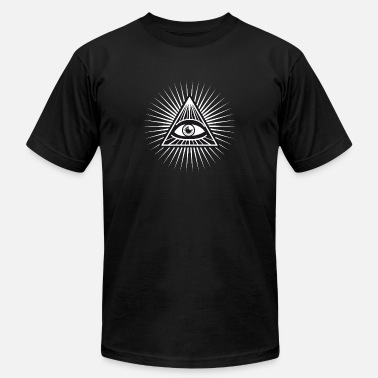 Orders Of Chivalry illuminati Pyramide all seeing eye Temple security - Men's Fine Jersey T-Shirt