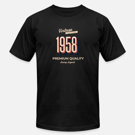 Birthday T-Shirts - 60th birthday - 1958 - Men's Jersey T-Shirt black