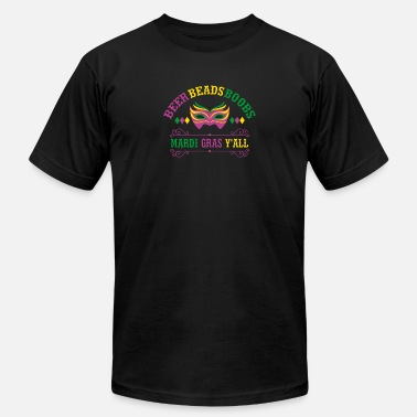 Boobs Mardi Gras Beer Beads Boobs Mardi Gras Y'All Gift - Men's  Jersey T-Shirt
