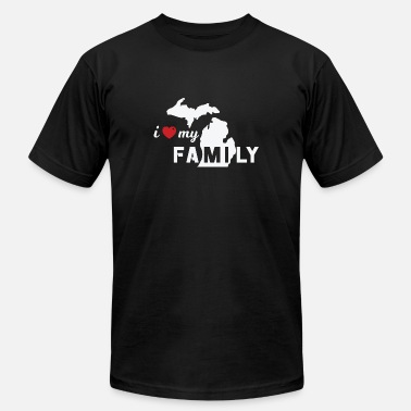 I LOVE MY MICHIGAN FAMILY - MULTIPLE STYLES - Men's  Jersey T-Shirt