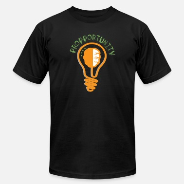 Uplifting Clothing Propportunities_Lightbulb - Men's  Jersey T-Shirt