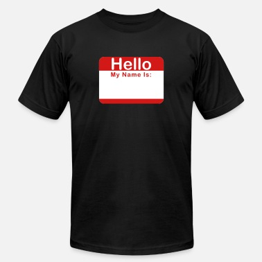 Writable Hello My Name Is:____ - Unisex Jersey T-Shirt