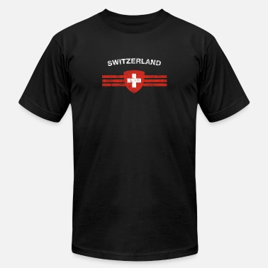 Flag Swiss Swiss Flag Shirt - Swiss Emblem & Switzerland Flag - Men's  Jersey T-Shirt