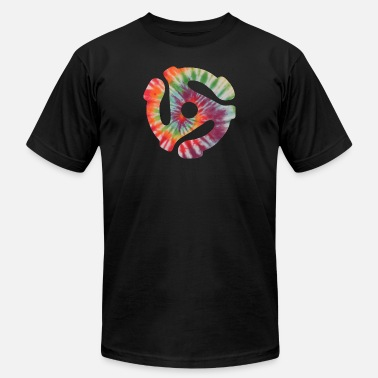 45 Record Adapter Tie Dye - Unisex Jersey T-Shirt