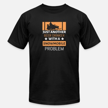 Problem Just Another Beer Drinker With Snowmobile Problem - Men's Fine Jersey T-Shirt