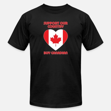 Canadian Country Support Our Country, Buy Canadian - Men's  Jersey T-Shirt