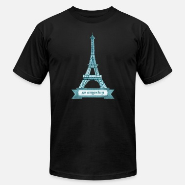 Paris France Eiffel Tower so amazing Paris France Structure - Men's  Jersey T-Shirt