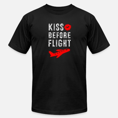 Flight Aviation Kiss before Flight - Aviation Flight Attendant - Men's  Jersey T-Shirt