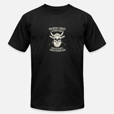 Bearded Skull Viking - Skull - Beard Quote -Knight Bearded Glory - Men's  Jersey T-Shirt