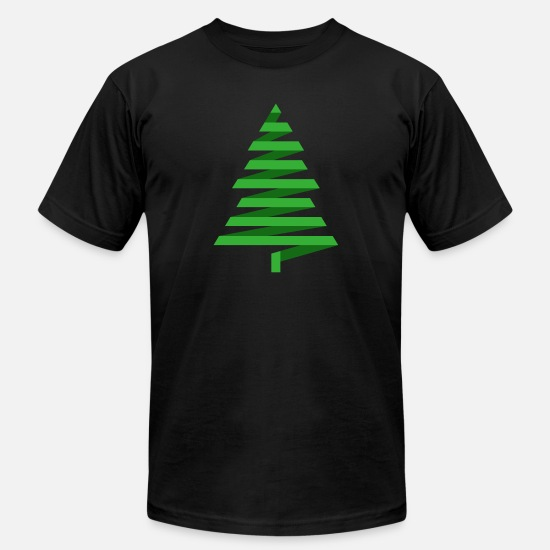 Image T-Shirts - Christmas tree spruce fir New Year vector image - Men's Jersey T-Shirt black