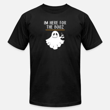 Booze Halloween Halloween booz I am here for the booz funny - Men's Fine Jersey T-Shirt