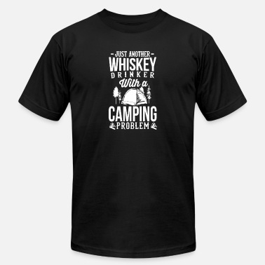 Coffee And Whiskey Whiskey and Camping - Men's  Jersey T-Shirt