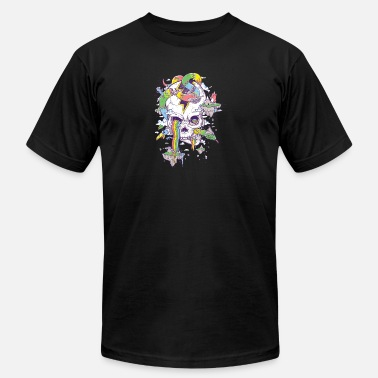 Rainbow Islands Flying Rainbow skull Island - Men's Jersey T-Shirt