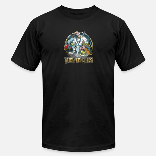 Game T-Shirts - Worm of Grooviness - Men's Jersey T-Shirt black