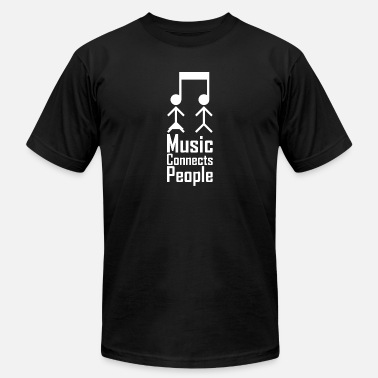 Connecting People Music Connects People - Men's  Jersey T-Shirt
